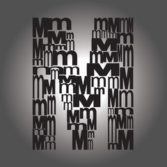 letter M . Vector illustration