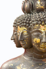 Isolated multi-face Buddha image