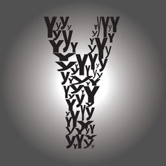 letter Y. Vector illustration