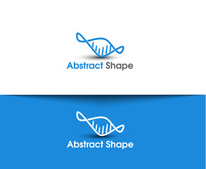 Abstract Shape Vector logo and symbol Design