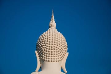 Image white buddha statue