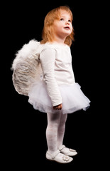 angel child girl in white