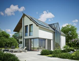 Holzhaus weiss