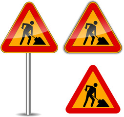 Vector work signs