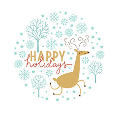 Christmas illustration, Christmas Deer