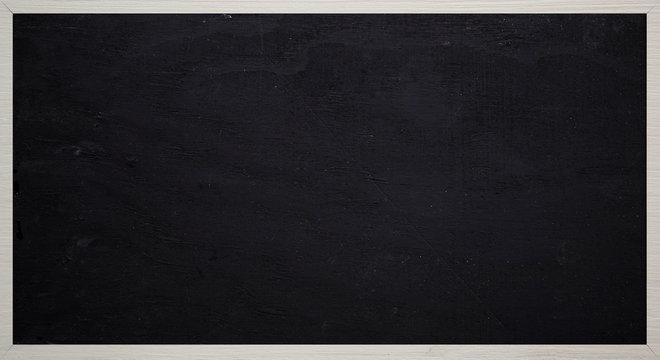 lavagna  nera con cornice in legno