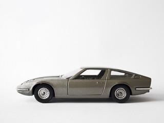 Metallic Silver Grey Classic Supercar