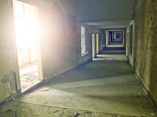 Fototapete - industrial hallway