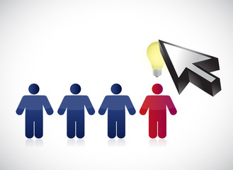people row and cursor illustration design