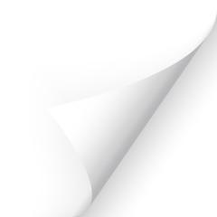 Papier - Ecke unten weiß