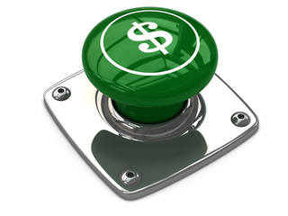 Green dollar button concept