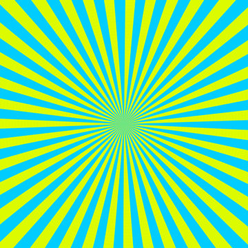 Cyan and yellow color burst background
