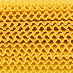 Close up of wavy lasagne noodles
