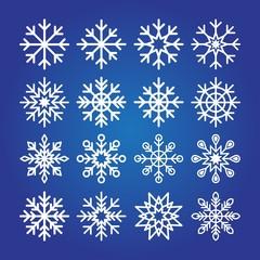 Decorative Snowflakes icon collection.