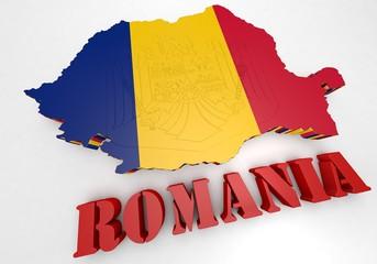 Map illustration of Romania