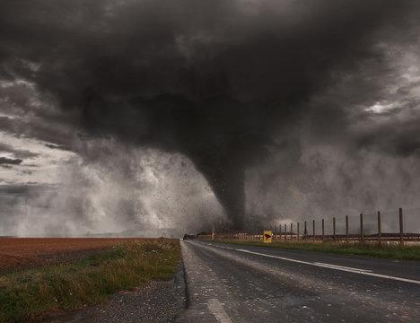 Tornado disaster concept