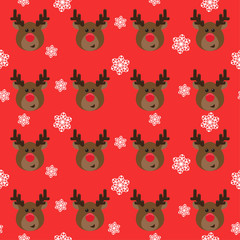 new year vector pattern background with funny deer