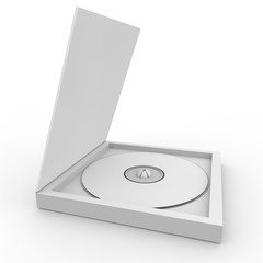 Blank white form - a disc in a box