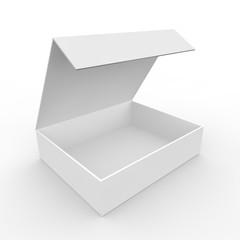 White empty box
