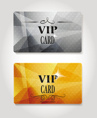 Set of abstract Vip gold and platinum cards