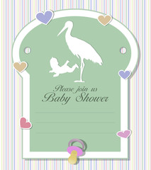 Baby shower card - girl