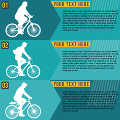 Ride bicycle infographics