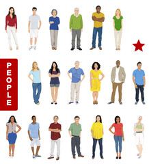 Group of People with Diverse People Concept