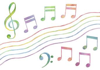 カラフルな音符のバリエーション2