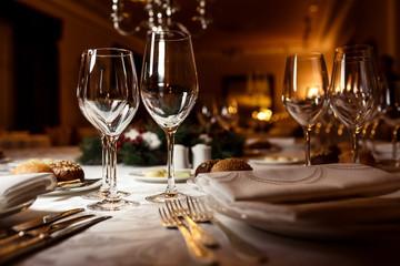 Table setting for celebration