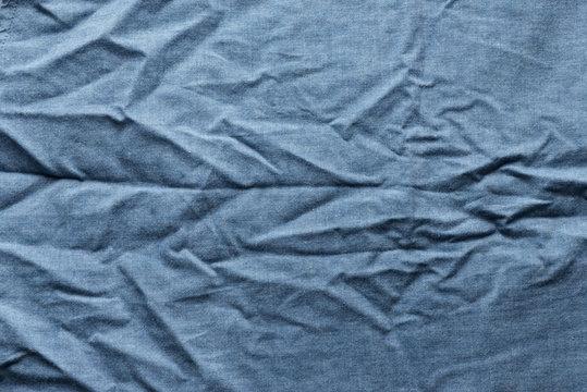 Blue fabric wrinkle