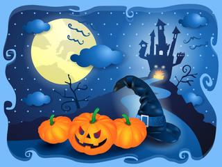 Halloween in blue