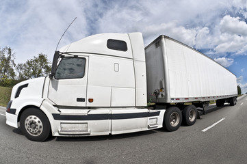 Big Truck On Highway