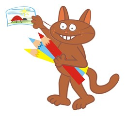 Tomcat and drawing