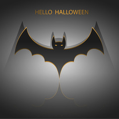 halloween bat sign