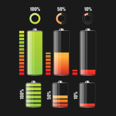 Battery charge status - vector