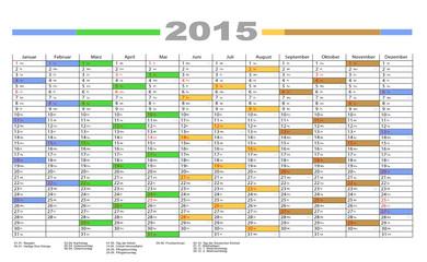 Jahresplaner 2015 bunt