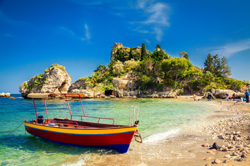 small boat for excursion Wall mural