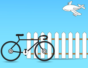 Bycycle and Fence