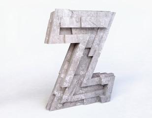 Stone Letter Z in 3D