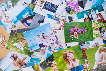 Printed photos background
