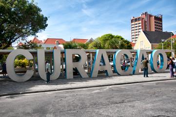 Curacao slogan / logo in Willemstad Wall mural
