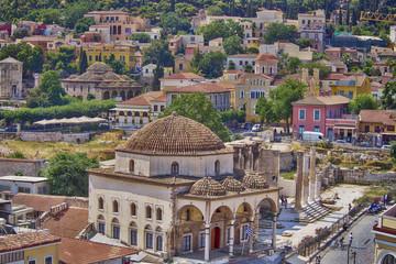 Athens Greece, Monastiraki and Plaka old neighborhood, hdr