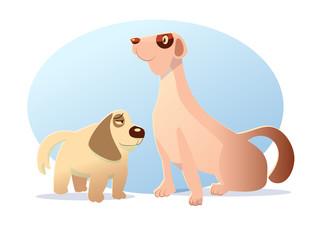 dog charactor cartoon styled vector illustration