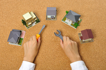 住宅模型と日曜大工