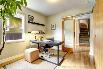 Simple yet practical office room interior