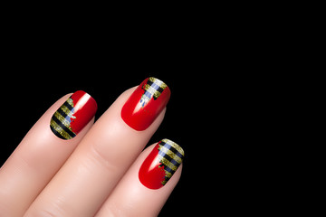 Bee. Nail Art. Stickers Animal Print