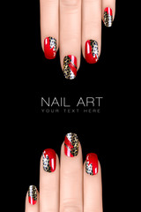 Leopard Nail Art. Nail Polish Stickers with Animal Print