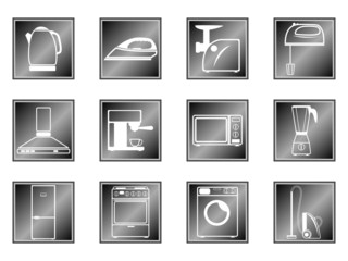 Icons of household appliances
