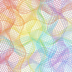 Fine background designed in rainbow curves