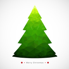 Modern abstract christmas tree-Geometric Style